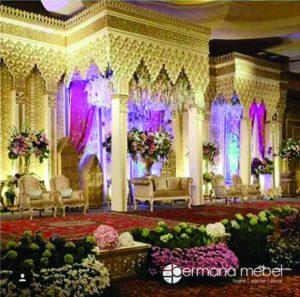 Dekorasi Pelaminan Maroko Gold