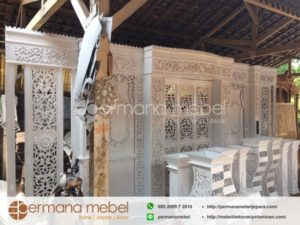 Dekorasi Pengantin Kayu Duco Putih