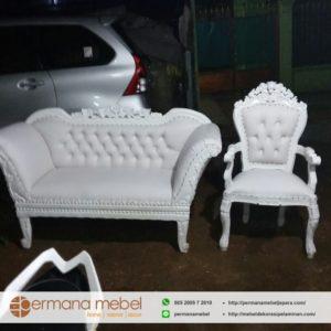 Kursi Sofa Pelaminan Duco Putih