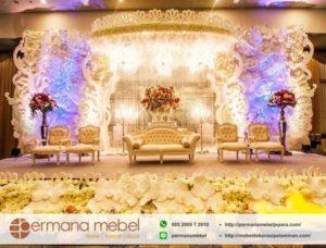 Dekorasi Wedding Karet Ukir Minimalis
