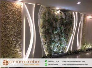 Dekorasi Pelaminan Karet Bunga Minimalis