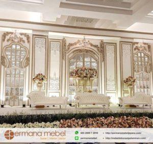 Dekorasi Pelaminan Ukir Karet Cermin Mewah