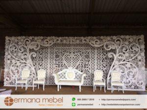 Dekorasi Pernikahan Ukir Spon Karet