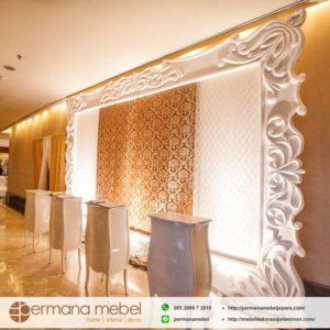 Photo Booth Dinding Pelaminan Ukir Karet