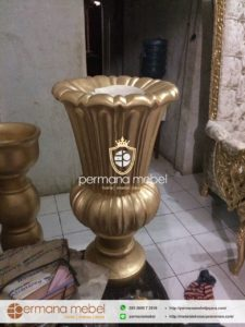 Pot Vas Bunga Pelaminan Gold