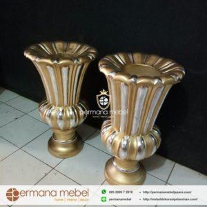 Pot Vas Bunga Pelaminan Gold Kombinasi
