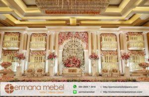 Dekorasi Pelaminan Karet Gedung Mewah