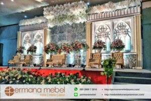 Dekorasi Pernikahan Karet Modern Minimalis
