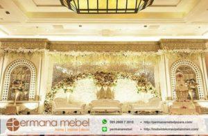 Dekorasi Wedding Karet Modern Gedung