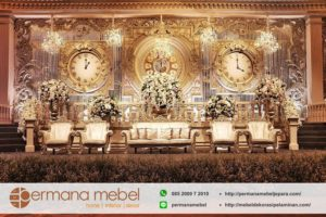 Dekorasi Pelaminan Wedding Modern Time Karet