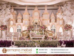 Dekorasi Pelaminan Istana Modern Karet