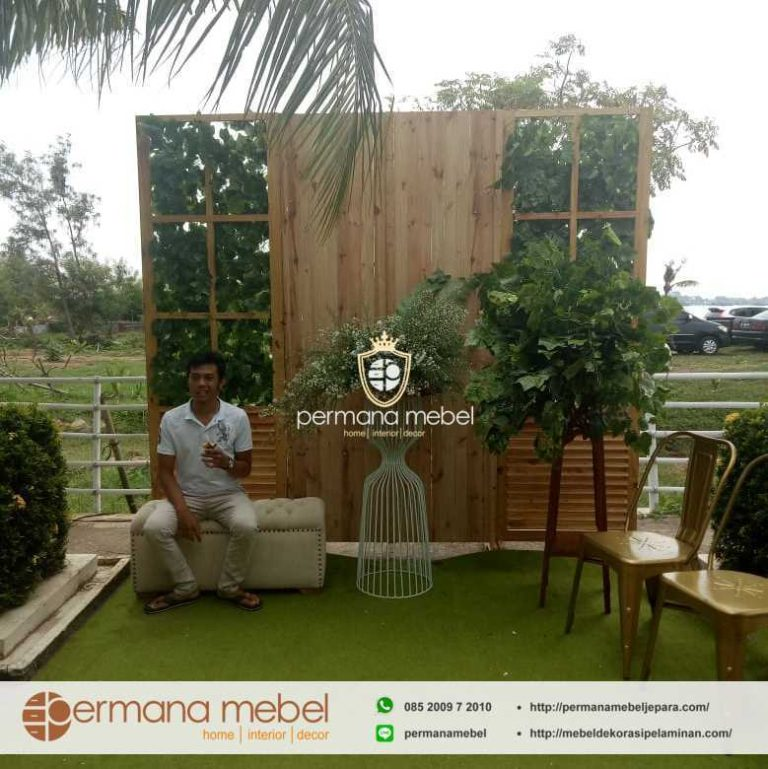 Photo Booth Pelaminan Rustic Mebel Dekorasi Pelaminan
