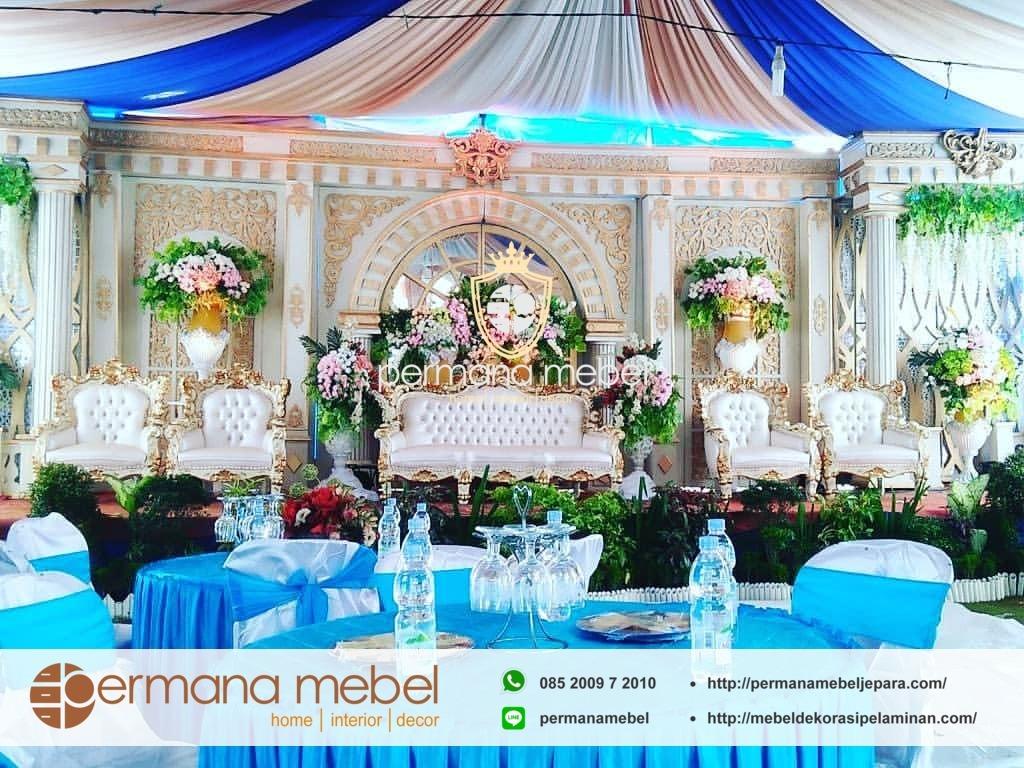 Gebyok Pelaminan Gold Spon Karet Jual Dekorasi Rawa Belong