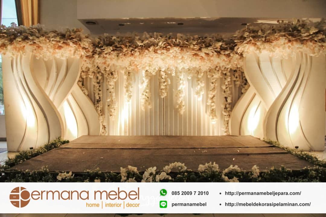 Dekorasi Pernikahan Minimalis Modern Pelaminan Rawa Belong