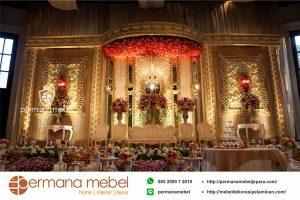 Dekorasi Pernikahan Gedung Gold Ukir Karet