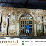 Dekorasi Pernikahan Kaca Rumahan Ukir Karet