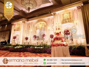 Dekor Pernikahan Gedung Modern Mewah Bahan Karet