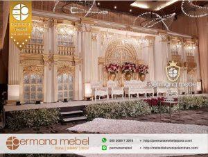 Decor Pelaminan Karet Wedding Gedung Mewah