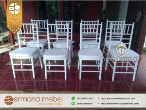 Kursi Tiffani Pesta Pernikahan Putih Murah