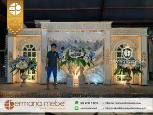 Dekorasi Pelaminan Kaca Karet Minimalis Rumahan 6m