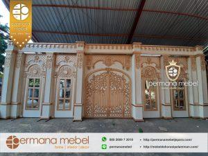 Dekorasi Pelaminan Karet Internasional Rumahan 8 meter