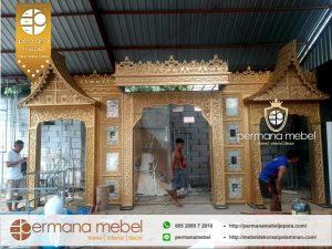 Dekorasi Pelaminan Karet Adat Padang Rumahan