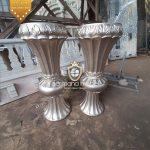 Pot Vas Bunga Pelaminan Kayu