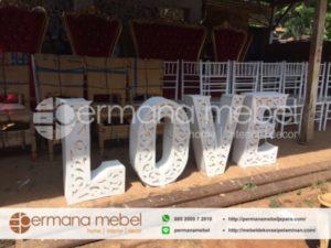 Properti Hiasan Dekorasi Pelaminan LOVE