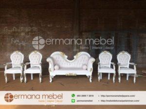 Kursi Set Dekorasi Pelaminan Putih