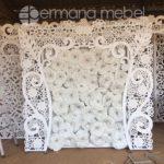 Set Kursi Pernikahan Minimalis Putih