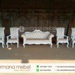 Sofa Pelaminan Minimalis Putih