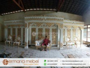 Set Dekorasi Pelaminan Kayu Maroko