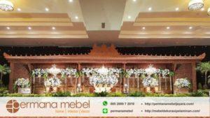 Dekorasi Pelaminan Karet Gebyok Ukir Jawa