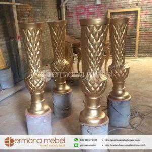 Pot Vas Bunga Nanas Gold