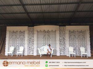 Dekorasi Pelaminan Wedding Ukir Karet
