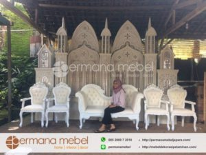 Pelaminan Istana Minimalis Karet Cermin