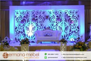 Dekorasi Pernikahan Ukir Karet Minimalis