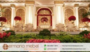 Dekorasi Wedding Karet Ukir Klasik Minimalis