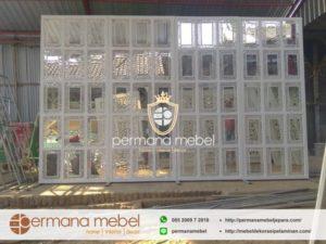 Sketsel Pelaminan Karet Minimalis Kaca Cermin