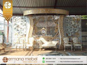Dekorasi Pelaminan Kaca Rumahan Ukir Karet