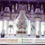 Dekorasi Pelaminan Kaca Cermin Model Istana