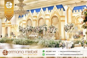 Pelaminan Karet Model Istana Mewah