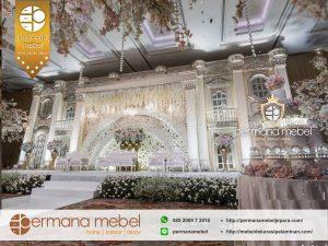 Pelaminan Pernikahan Dekorasi Modern Eropa