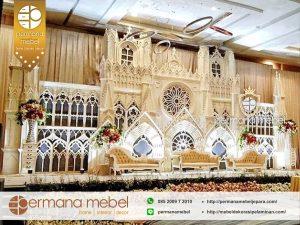 Dekor Pelaminan Istana Ornamen Ukir Karet