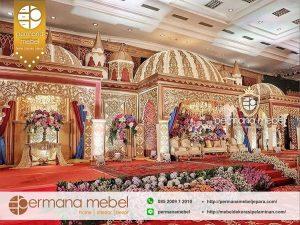 Dekor Pernikahan Kubah Modern Ukir Karet