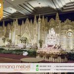 Background Pelaminan Pernikahan Modern Kaca Karet