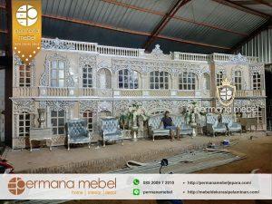 Dekorasi Pelaminan Pernikahan Karet Mewah