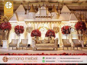 Dekorasi Pelaminan Karet Rumahan Gedung Istana