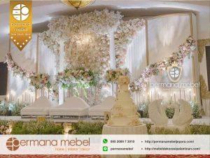 Dekorasi Pelaminan Wedding Kain Flower Terbaru
