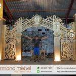 Backdoor Wedding Dekorasi Pelaminan Karet Tangga Mewah